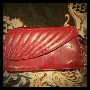 Vintage authentic eel clutch